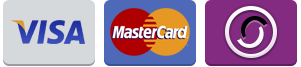 Visa, Mastercard, Swith, Solo Payments accepted